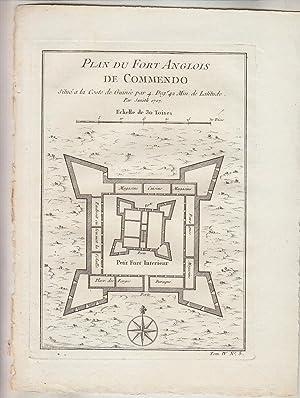 PLAN DU FORT ANGLOIS DE COMMENDO situe: Jacques Nicolas BELLIN
