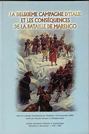 1800 La DEUXIEME CAMPAGNE D ITALIE et les CONSEQUENCES DE LA BATAILLE DE MARENGO Napoleon ACTES DU ...