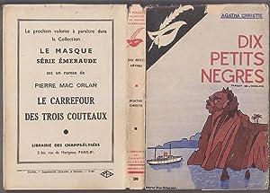Dix Petits Negres EDITION ORIGINALE 1940 Masque: Agatha CHRISTIE