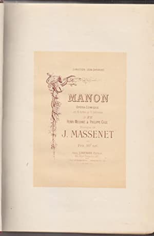 MASSENET - MANON Partition EDITION ORIGINALE 1884: MASSENET