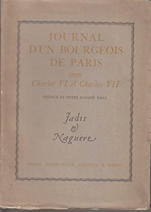 Journal d un BOURGEOIS DE PARIS sous