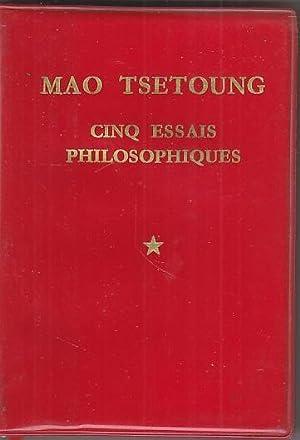 PETIT LIVRE ROUGE Cinq Essais EDITION PEKIN: Mao Tse Toung