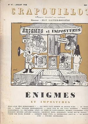 CRAPOUILLOT 1958 ENIGMES et IMPOSTURES Sine: Galtier Boissiere SINE