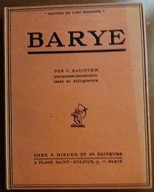 LOUIS BARYE Maitres Art Moderne RELIE ILLUSTRE: C. Saunier