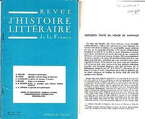 QUELQUES TRAITS DU VISAGE DE MARIVAUX. Tire: Michel GILOT. MARIVAUX.