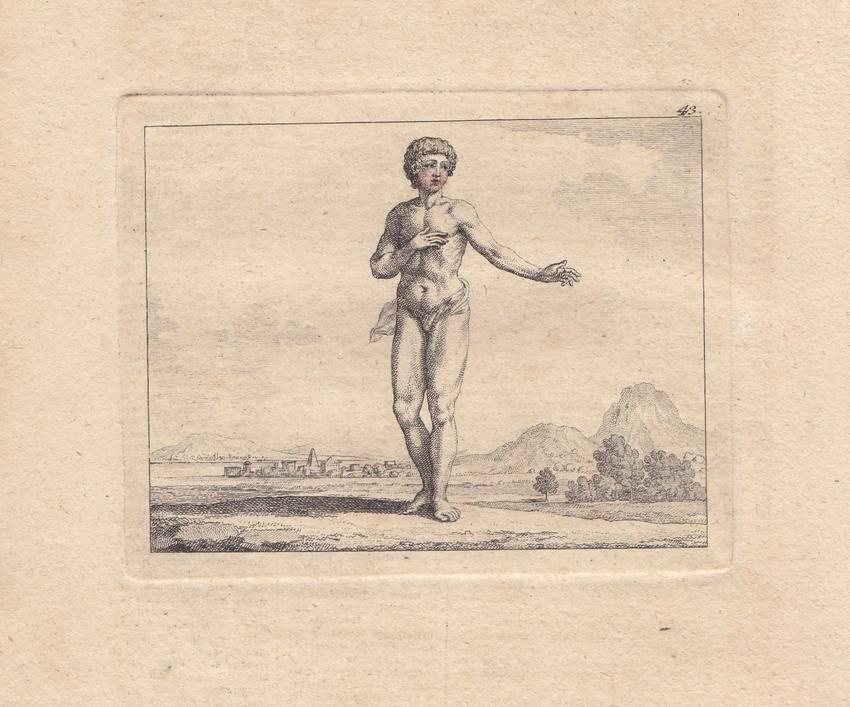 Die äusserlichen Theile des Menschen, Anatomie, Kupferstich um 1775 ...