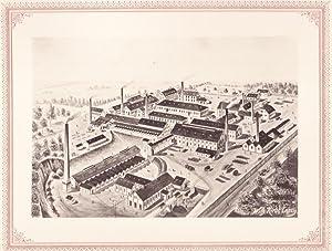 ZWICKAU: Thonwarenfabrik Fr. Chr. Fikentscher aus der Sammlung von Ansichten der Betriebe der s&...