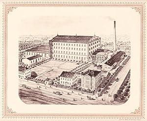 CHEMNITZ: Kammgarnspinnerei Burmann & Co. aus der Sammlung von Ansichten der Betriebe der s&...