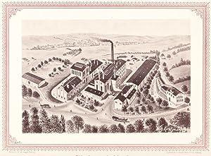 GLAUCHAU: Bierbrauerei Glauchau Nagel & Weber aus der Sammlung von Ansichten der Betriebe der s...