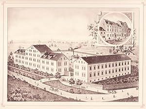 PLAUEN: Fabrikation mechanischer Stickereien F. D. Goesmann aus der Sammlung von Ansichten der ...