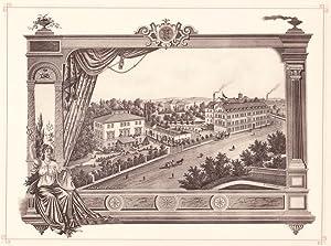 GLAUCHAU: Fabrik von Modestoffen Kratz & Burk aus der Sammlung von Ansichten der Betriebe der s...