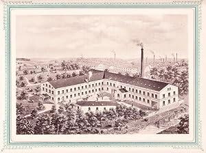 CRIMMITSCHAU: Mechanische Papierhülsenfabrik Gustav Kyber aus der Sammlung von Ansichten der ...