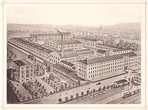 OELSNITZ: Teppich- und Möbelstoff-Fabrik Koch & de Kock aus der Sammlung von Ansichten der...