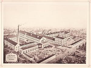WERDAU: Spinnereimaschinenfabrik J. H. Popp aus der Sammlung von Ansichten der Betriebe der sä...