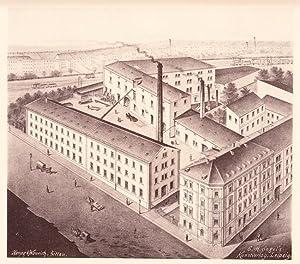 CHEMNITZ: Maschinenfabrik F. W. Strobel aus der Sammlung von Ansichten der Betriebe der sä...