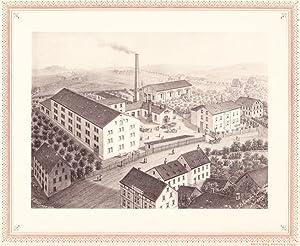OEDERAN: Kammgarnspinnerei F. A. Grüner aus der Sammlung von Ansichten der Betriebe der s&auml...
