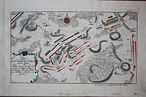 """HOCHKIRCH bei Bautzen - """"Plan der Bataille bey Hochkirch in der Lausniz. Welche den 14ten ..."""