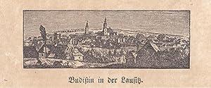 """BAUTZEN. - """"Budißin in der Lausitz"""". Gesamtansicht von einer Anhöhe. ..."""