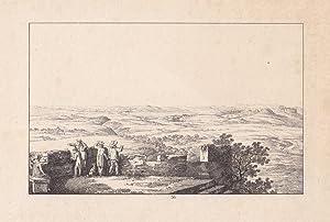GERSDORF bei Berggießhübel. Aussicht von der Ruine mit weitem Blick bis an die Bergkette...