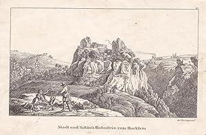 """HOHNSTEIN / SÄCHSISCHE SCHWEIZ. """"Stadt und Schloß Hohnstein vom Hockstein&quot..."""