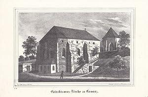 KAMENZ. Ansicht der Katechismus-Kirche. Lithographie von Renner und Ketzschau nach Julius Mö...
