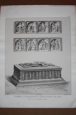 """MEISSEN. Dom. """"Denkmal K. Friedrich des Streitbaren im Dom (Fürstenkapelle) u. Reliefs an..."""