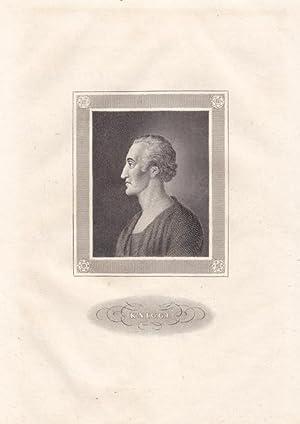 KNIGGE, ADOLPH FREIHERR (1752 Schloß Bredenbeck - 1796 Hannover). Porträt. Brustbild im ...
