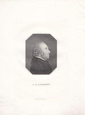 BASEDOW, JOHANN BERNHARD (1724 Hamburg - 1790 Magdeburg). Porträt. Brustbild im Profil nach ...