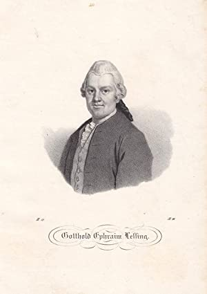 LESSING, GOTTHOLD EPHRAIM (1729 Kamenz - 1781 Braunschweig). Porträt. Brustbild en face. ...