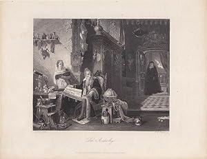 """Der Astrolog"""". Stahlstich von Albert Henry Payne nach Terral. Blattgröße: 20,5 x ..."""