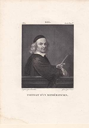 "Mathematik. ""Portrait d un Mathématicien. Kupferstich um 1810 von Touzé nach ..."