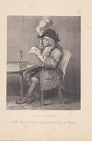 Der Politiker, The Politician, Kupferstich um 1860 von A. Wright nach dem Originaldruck von William...