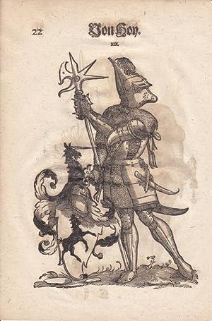 Ilsung und von Hoy, aus einer Augsburger Patrizierfamilie, je ganzfiguriges Porträt mit gro&...
