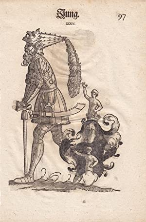 Jung und Regel, aus einer Augsburger Patrizierfamilie, je ganzfiguriges Porträt mit groß...