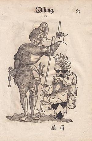 Illsung und Remen, aus einer Augsburger Patrizierfamilie, je ganzfiguriges Porträt mit gro&...