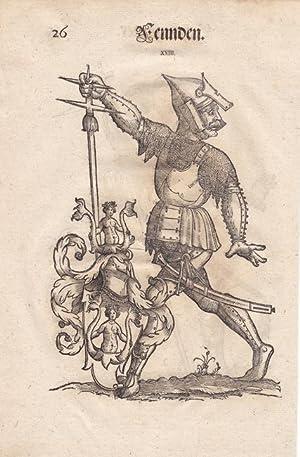 Fennden und Schongauer, aus einer Augsburger Patrizierfamilie, je ganzfiguriges Porträt mit ...