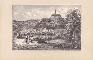 NACHOD - Stahlstich vom Ende des 19. Jhd., Blattgröße: 14,4 x 22 cm, reine Bildgrö&...