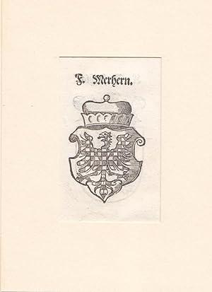 MÄHREN, bekröntes Wappen von Mähren mit beschachtem Adler, gut erhaltener, seltener ...
