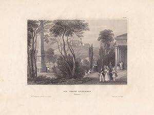 SPIELBERG, die Veste bei Brünn, schöner Stahlstich um 1840 aus dem bibligraphischen ...