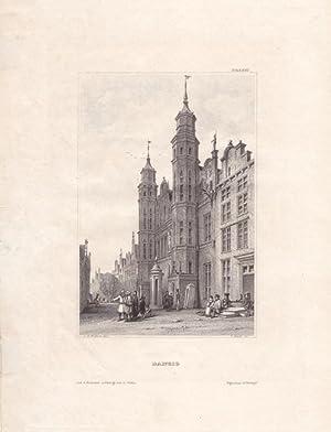 DANZIG, großes Zeughaus, Stahlstich um 1850 von C. Heath nach J.H. Vickers, Blattgrö&...