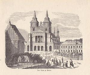 POSEN, Der Dom, Holzstich um 1860 in gutem Zustand, Blattgröße: 11 x 13 cm, reine Bildgr...