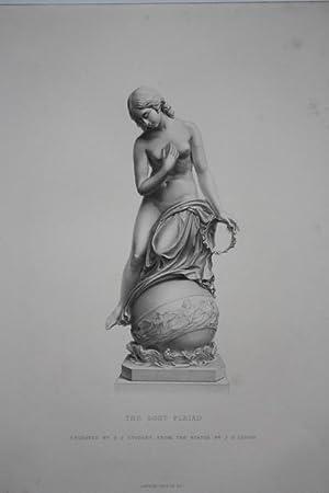 Plejade, The lost Pleiad, original Stahlstich um 1870 von G.J. Stodart nach einer Skulptur von J.G....