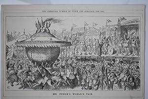 Jahrmarkt, Mr. Punch s World s Fair, Holzstich aus dem Jahr 1892 von Swain, Blattgröße: ...