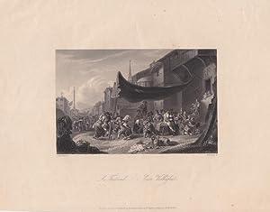 Ein Volksfest/ A Festival, Stahlstich um 1860 von W. French nach P. van Laar, Blattgrö&...