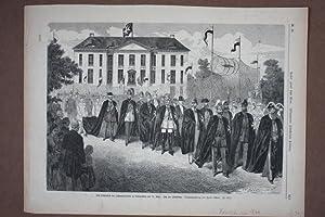 Sonnenburg, großformatiger Holzstich um 1878 nach einer Zeichnung von Herm. Lüders, ...