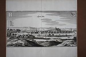 Reetz, Recz, original Kupferstich um 1650 von Merian (1593 - 1650), Blattgröße: 31 x ...