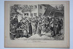 Ein Kegeltag in Pienzenau, Holzstich um 1870 nach Ludwig Bechstein, Blattgröße: 22,2 x ...