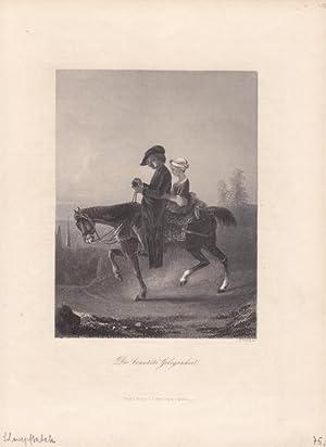 Schnupftabak, Die benutzte Gelegenheit, Stahlstich um 1865 von W. French, Blattgröße: ...