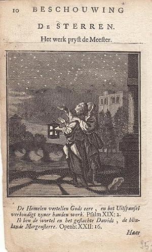 Die Sterne, De Sterren, kleinformatiger Kupferstich um 1710 von Jan Luiken (1649 - 1712), Blattgr&...