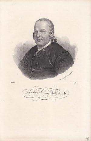 Johann Georg Pahlitzsch, Lithographie um 1840 von